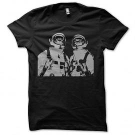 Shirt astronaut cat noir pour homme et femme