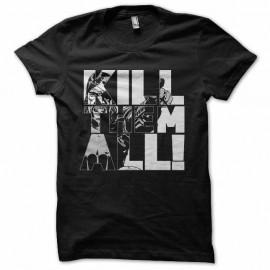 Shirt walking dead kill them all noir pour homme et femme