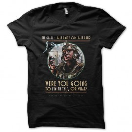 Shirt half empty or half full noir pour homme et femme