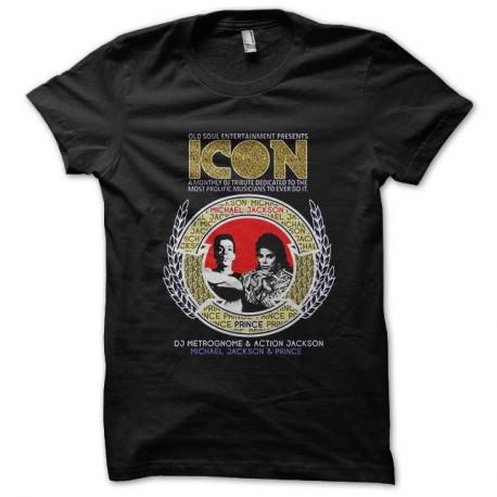 Shirt classic michael jackson and prince noir pour homme et femme