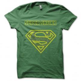 Shirt logo superskunk parodie superman vert pour homme et femme