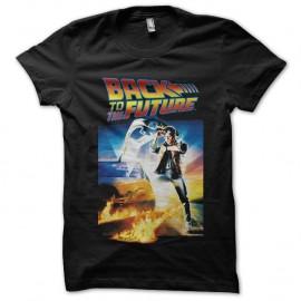 Shirt Back to the future affiche noir pour homme et femme