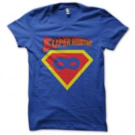 Shirt super resistant parodie superman bleu pour homme et femme
