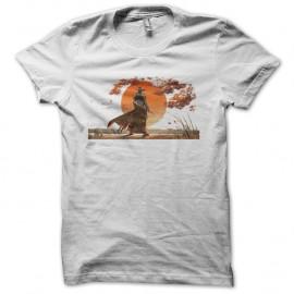 Shirt samourai coucher de soleil blanc pour homme et femme