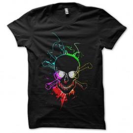 Shirt glowing skull noir pour homme et femme