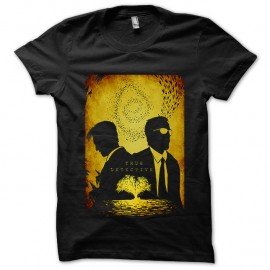 Shirt True Detective Hart et Cohle noir pour homme et femme