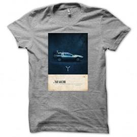 T-shirt Grey Retour Vers Le Futur-The Time Machine pour homme et femme