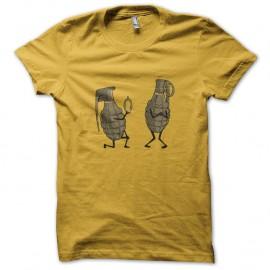 Shirt grenade rigolote jaune pour homme et femme