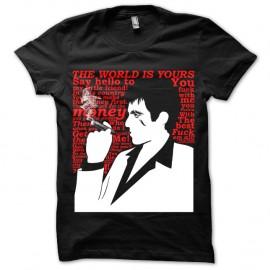Shirt Scarface Citations Noir pour homme et femme
