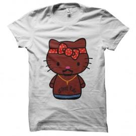 Shirt Thug Kitty parodie hello kitty Blanc pour homme et femme