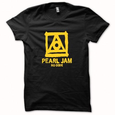 Shirt Pearl Jam no code jaune/Noir pour homme et femme