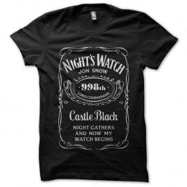 Shirt Nightwatch noir pour homme et femme