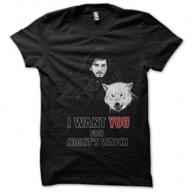 Shirt I Want You for NightWatch noir pour homme et femme