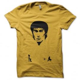 Shirt bruce lee jaune pour homme et femme