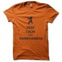 Shirt keep calm and kamehameha en orange pour homme et femme