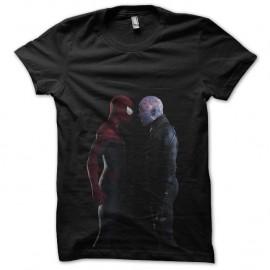Shirt film spiderman 2 vs electro noir pour homme et femme