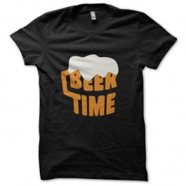 Shirt beer time noir pour homme et femme