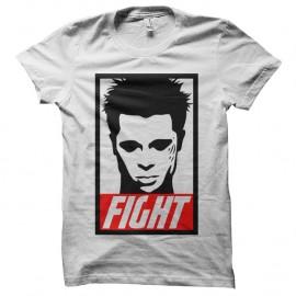 Shirt FIGHT club parodie obey blanc pour homme et femme