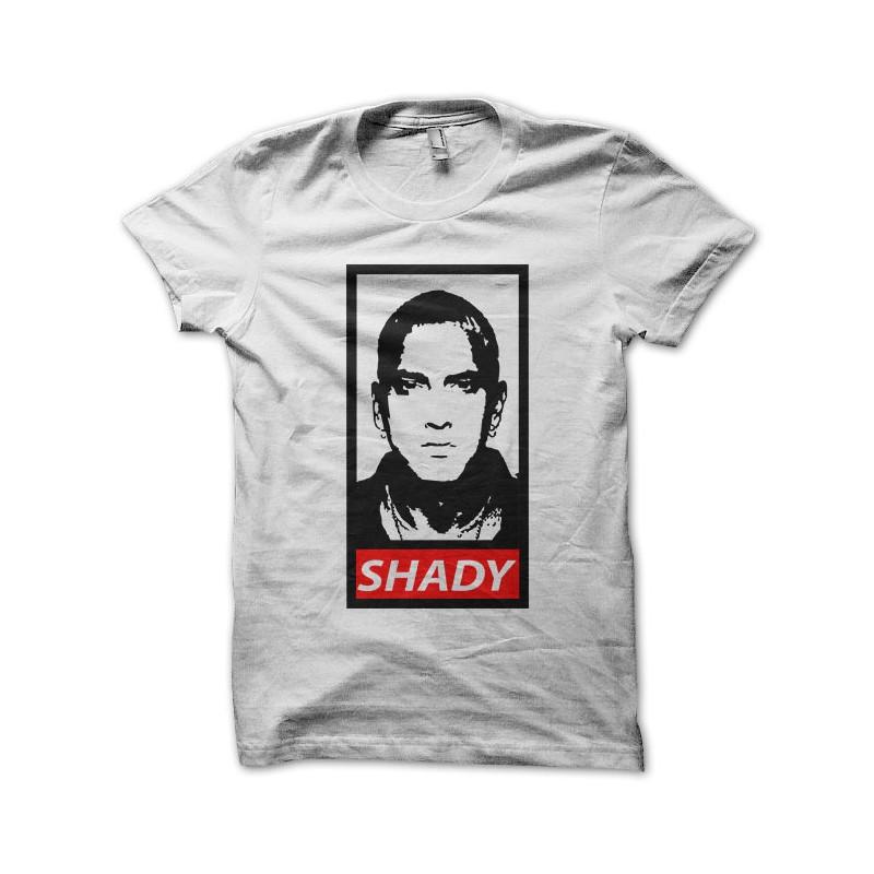 Tee Eminem Blanc Shady Parodie Obey yvmbIf76Yg