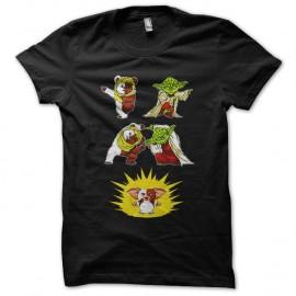 Shirt fusion ewok yoda guizmo noir pour homme et femme