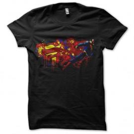 Shirt superman artistique noir pour homme et femme