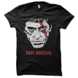 Shirt tony montana cicatrice noir pour homme et femme