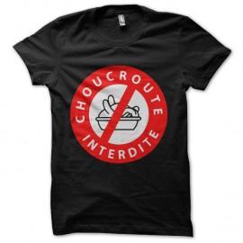 Shirt Choucroute interdite Noir pour homme et femme