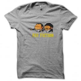 Shirt fat fiction parodie blanc pour homme et femme