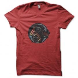 Shirt DAFT PUNK YING YANG rouge pour homme et femme