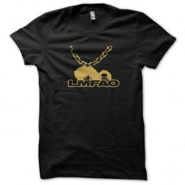 Shirt LMFAO chaine bling bling noir pour homme et femme