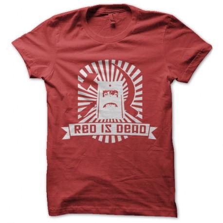 Shirt Red is Dead - Rouge pour homme et femme
