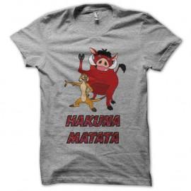 Shirt Timon et Pumba hakuna matata gris pour homme et femme