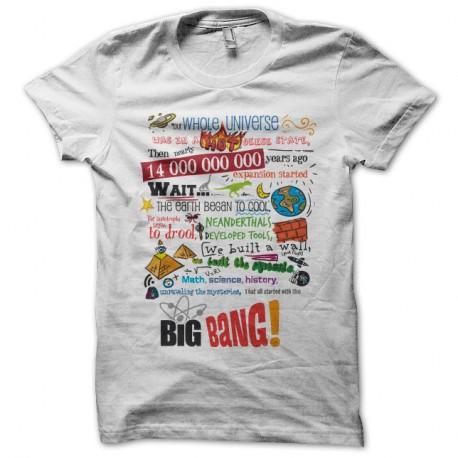 Shirt Big Bang Theory Color Blanc pour homme et femme