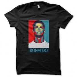 Shirt Cristiano Ronaldo parodie obama noir pour homme et femme
