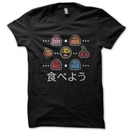Shirt Pacman items noir pour homme et femme