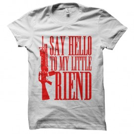 Shirt Say hello to my little friend - Blanc pour homme et femme