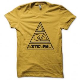 Shirt Logo Aztechno jaune pour homme et femme