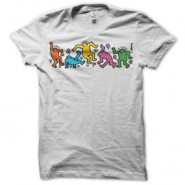 Shirt keith harring 15 blanc pour homme et femme