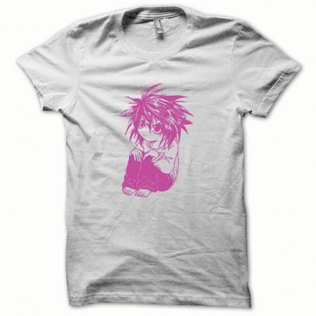 Shirt Parodie Death Note rose/blanc pour homme et femme