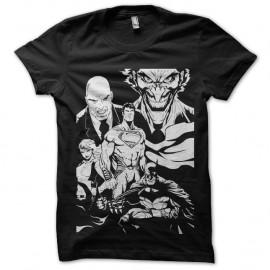 Shirt special comics batman superman noir pour homme et femme