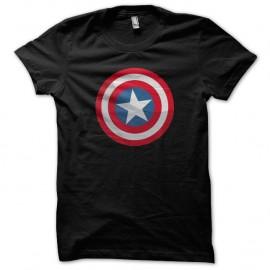 Shirt Captain America Shield ombre Noir pour homme et femme