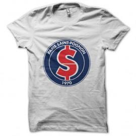 Shirt Paris Saint Germain PSG Parodie Paris Saint Pognon blanc pour homme et femme
