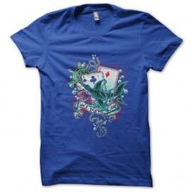 Shirt poker shark attak bleu pour homme et femme