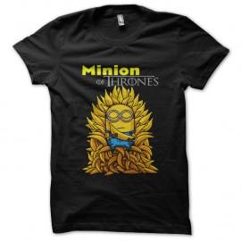 Shirt minion of thrones noir pour homme et femme