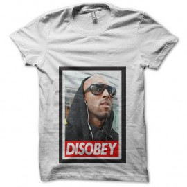 Shirt Disobey Anelka Parodie Obey quenelle blanc pour homme et femme