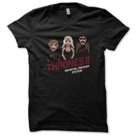 Shirt Thrones II nintendo 8 bit noir pour homme et femme