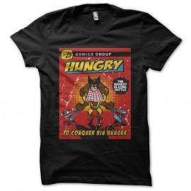 Shirt Hungry wolverine comic noir pour homme et femme
