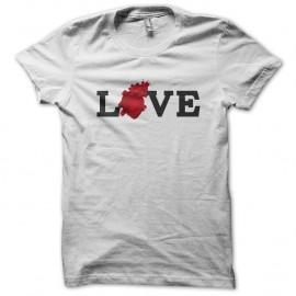 Shirt Love heart Blanc pour homme et femme