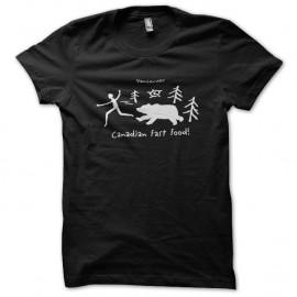 Shirt fast food canadien noir pour homme et femme