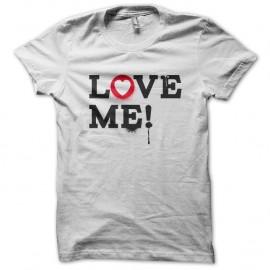 Shirt LOVE ME blanc pour homme et femme